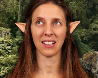 Large Latex Light skin tone Elven ears ,Shannara chronicles elven ears,LOTR,LARP Costume pointy ears ,Cosplay Anime pointy ears,Elven ranger