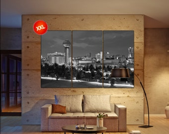 Knoxville wall decor art  Knoxville  black white  Knoxville canvas wall art  canvas wall art