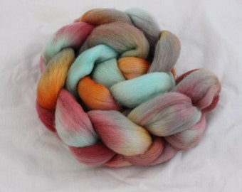 Pleased as Patina on Organic Polworth - Hand Dyed Spinning Fiber