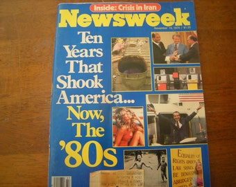 vtge magazine-Now the 80's-Newsweek mag-November 1979 issue-collection-history-
