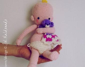 Crochet pattern amigurumi doll - babies crochet baby toy PDF - Instant Download