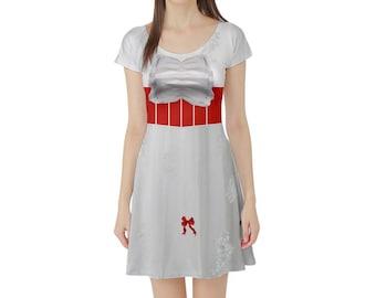 Mary Poppins Inspired Short Sleeve Skater Dress
