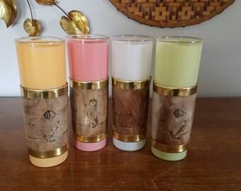 Siesta Ware Tiki Tumbler Glass Set of 4