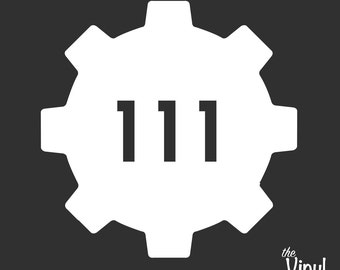 Vault 111 Vinyl Sticker - Inspired by Bethesda's Fallout 4