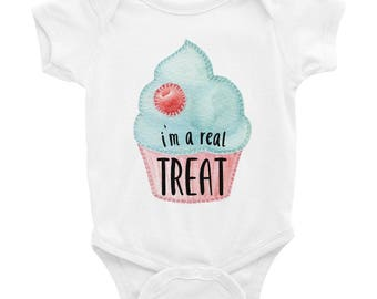 I'm a Real Treat - Cute Cupcake - Infant Bodysuit