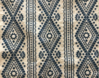 """Lee Jofa """"Lucknow"""" Fabric Remnant in Color """"Blue"""""""