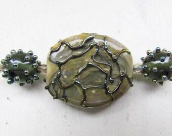 Glass lampwork beads, 3 pc grey lampwork beads set, handmade lampwork beads, lampwork beads, handmade glass beads, glass beads for jewelry