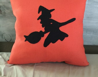 Witchy Halloween Pillow