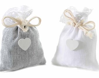 Cotton Bags Gift Pouches Party Favor Set of 12