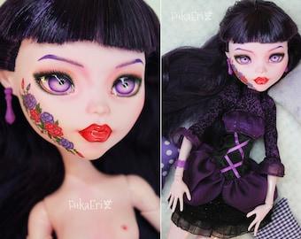 "Vanessa - Monster High Custom Repaint Art doll OOAK Elissabat 17"""
