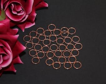 "10 pcs 12mm (1/2"") Rose Gold Metal Rings for Bramaking Bra Strap Camisole Lingerie Making"