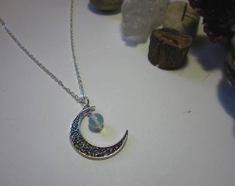 Waning Moon Necklace Opalite Crystal Magick