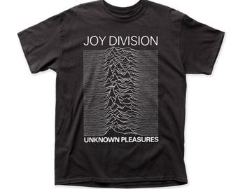 Joy Division Unknown Pleasures Traditional Fit 18/1 Cotton Tee (JD02) Black