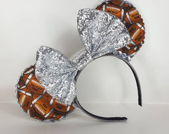 Football Minnie Mouse Inspired Ears