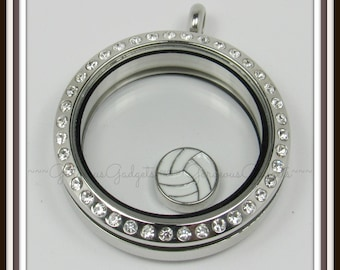 Volleyball Floating Charm for Glass locket / Floating Locket / Memory Locket