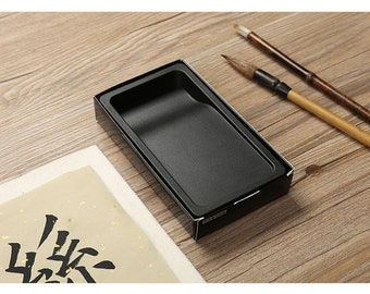 Free Shipping Chinese Calligraphy Material 13.7x7.6x2.2cm ABS Plastic Material Chinese Inkstone - 0095 Orientalartmaterial Supply