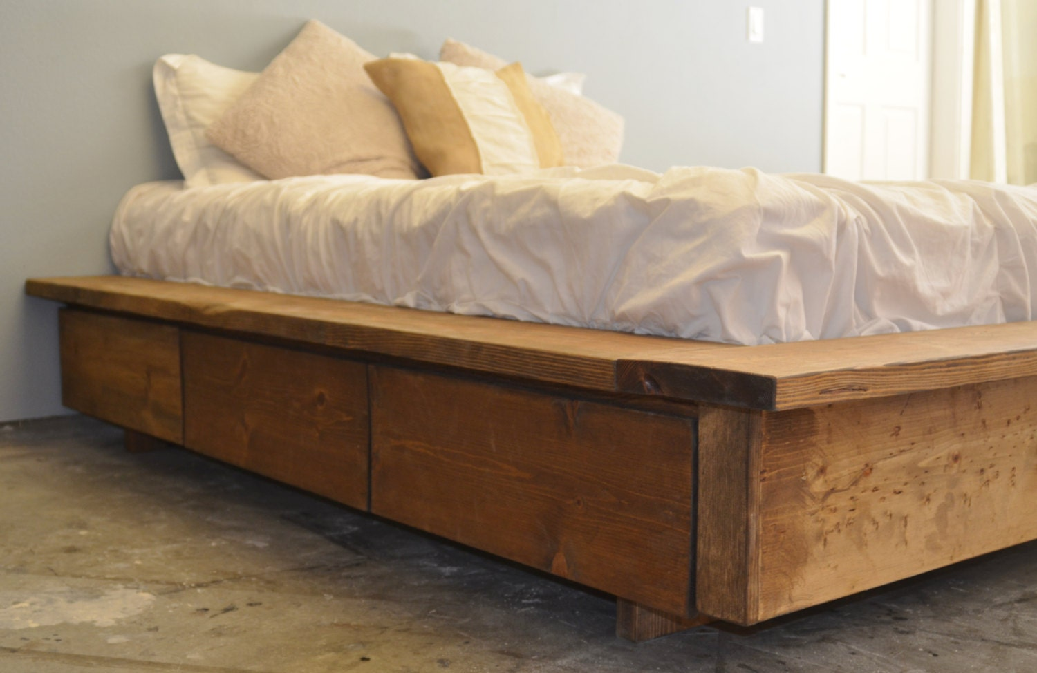 Perfect King Platform Bed Frame Creative