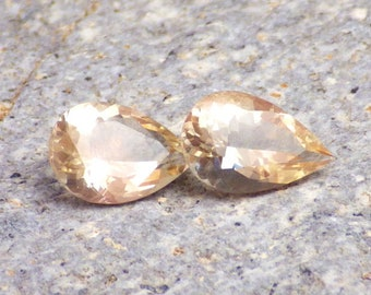 Schiller Oregon Sunstone 2.17 Ct TW 2 pcs-Flawless+VS2-Jewelry Pair-German Cut