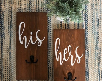 His & Hers Towel Holders 6x10 in