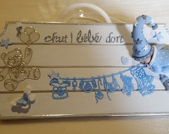 Baby boy door plate - at the heart of the arts