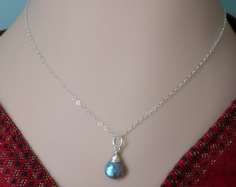 Flashy Blue Labradorite Necklace