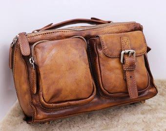 New Leather Satchel, Leather Messenger Bag, Man Bag, Student Bag, Crossbody,Leather shoulder bag