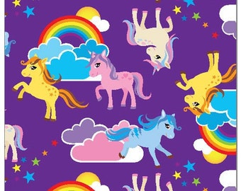 Rainbow Unicorns Print Pul