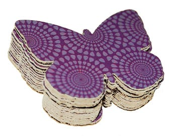 20 Plum Purple Recycled Kleenex Box Butterfly Die Cuts; Pretty and Sustainable