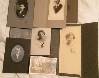 Antique Cabinet Card Photographs - Instant Family Pics