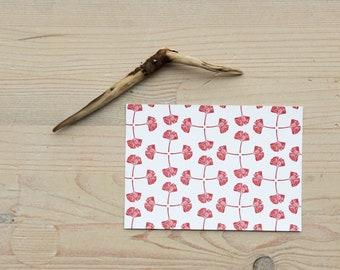 Postcard Set – Gingko pattern – art Print