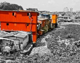 """Mumbai Slum - Photo Art Print - """"CORRUGATED CONDO"""""""
