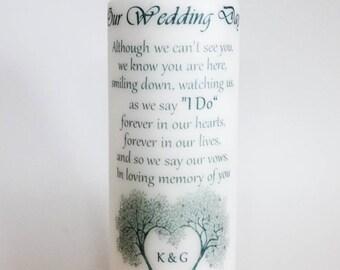 Wedding Remembrance Candle - Custom Wedding Candle - Memory Candle - Personalized Unity Candle - Keepsake Gift - In Memory Candle