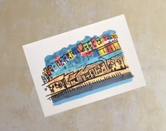 Bright and Colourful Bristol Totterdown Greetings Card