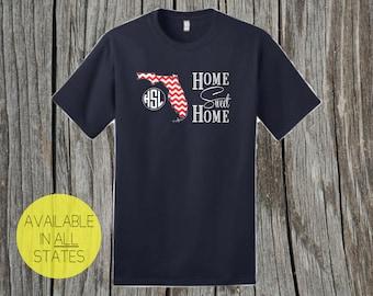 Home Sweet Home Florida State T-Shirt W/ Monogram