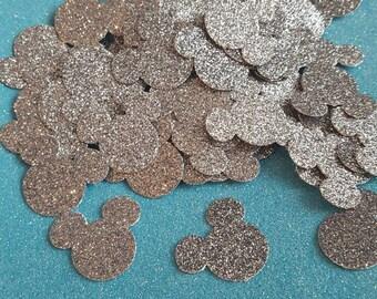 Platinum Glitter Minnie Mouse Confetti