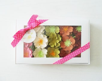 Seed Paper Wildflower, Herb And Vegetable Gift Set   Plantable Paper Flowers    Unique Hostess Gift, Teacher Gift   Garden Lovers Sample Set
