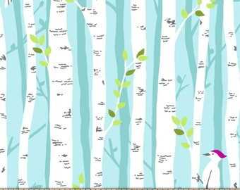 New ~ Project Dovetail Birch Forest Too Mist Color ~  Michael Miller Fabrics, lightweight quilting cotton fabric