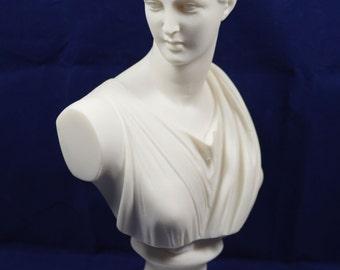 Artemis Diana bust sculpture Ancient Greek Goddess of hunt statue