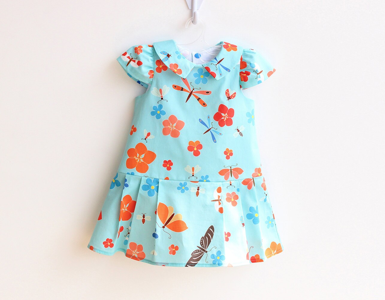 BLOOMS Girl Baby Girl Dress sewing pattern Pdf Easy Capped