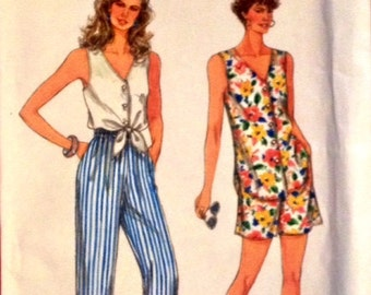 Simplicity Pattern 8366 Misses Pants, Shorts, Top  Size PT-XL