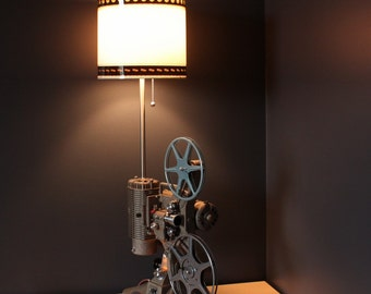 Home Theater Decor - 35mm Film Lamp Shade Option for Movie Projector Table Lamp
