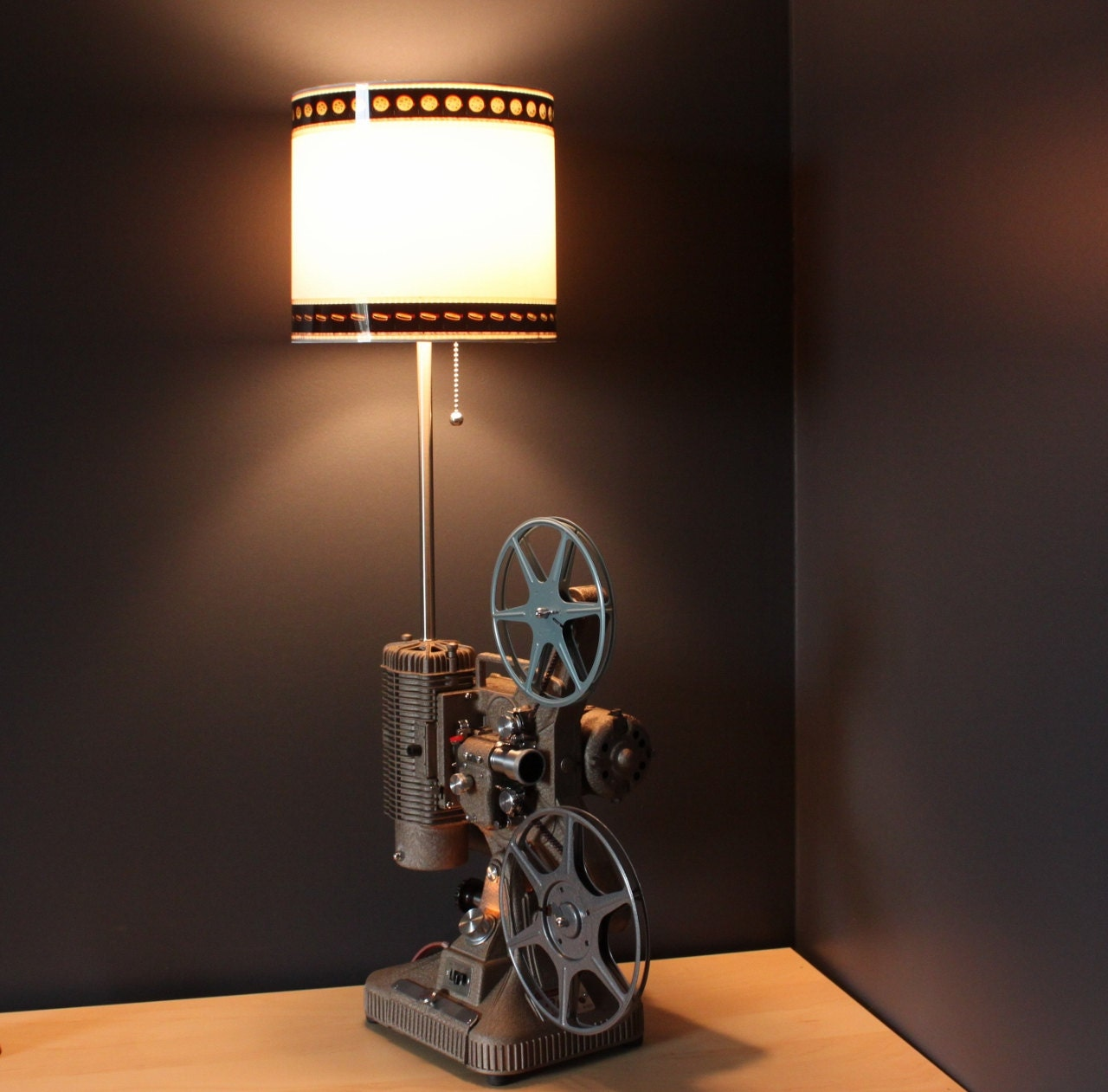 Home theater decor 35mm film lamp shade option for movie zoom mozeypictures Images