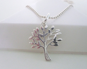 Tree of Life Necklace Chain, Tree of Life Jewellery, Tree of Life Pendant, Family Tree, Sterling Silver Necklace, gift for women, handmade