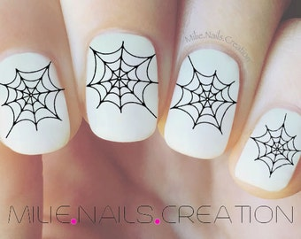 Halloween Spider Web Nail Decal