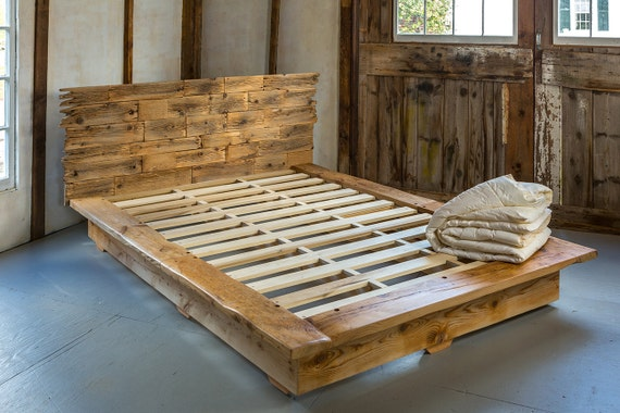 Cabecero y cama plataforma marco