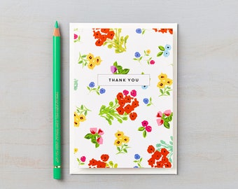 Ditsy Design Thank You cards