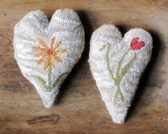Three Hearts Rug Hooking Pattern Instant Download