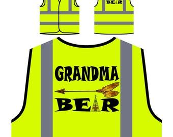 Grandma bear arrow Yellow Safety Jacket Vest u215v