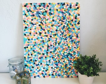 Pastel Speckled Canvas