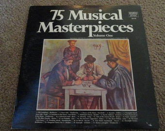75 Musical Masterpieces record vintage good condition plays well-vinyl- vinyl record- vintage vinyl- records--